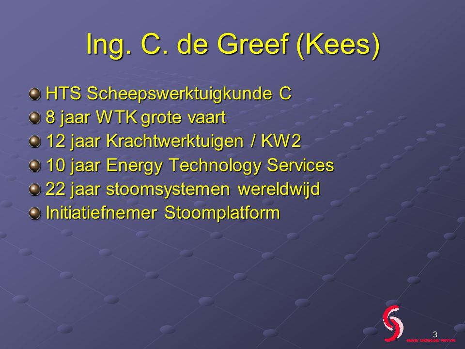 Ing. C. de Greef (Kees) HTS Scheepswerktuigkunde C