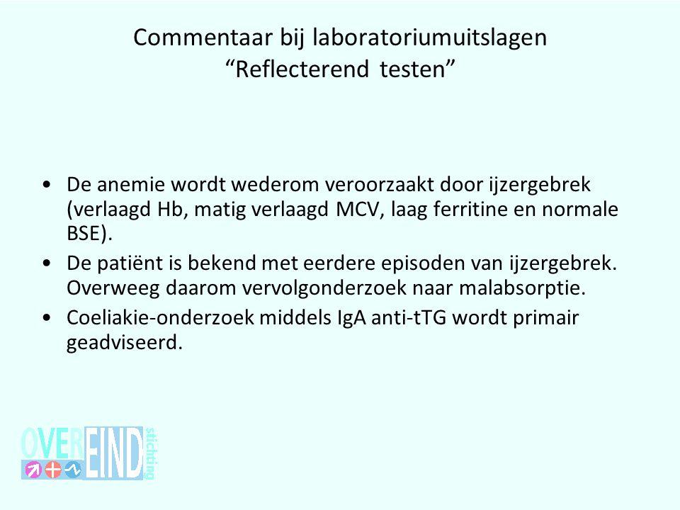 Commentaar bij laboratoriumuitslagen Reflecterend testen