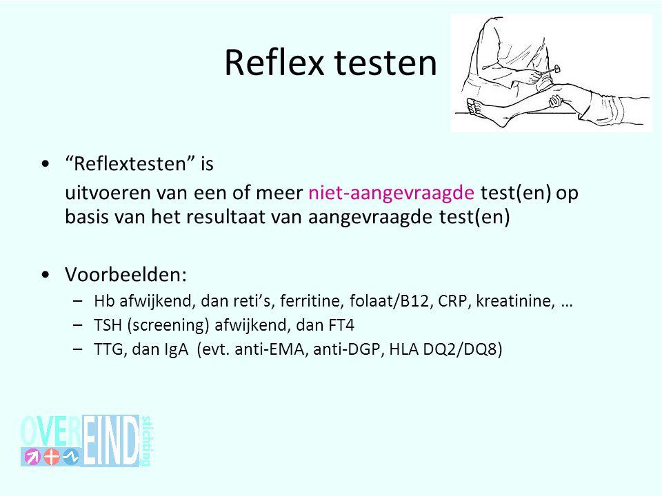 Reflex testen Reflextesten is