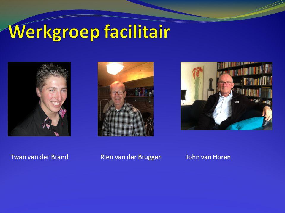 Werkgroep facilitair Twan van der Brand Rien van der Bruggen