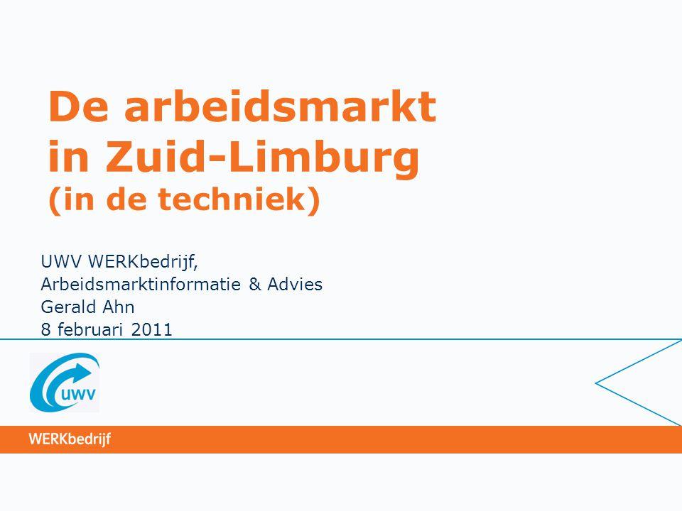 De arbeidsmarkt in Zuid-Limburg (in de techniek)