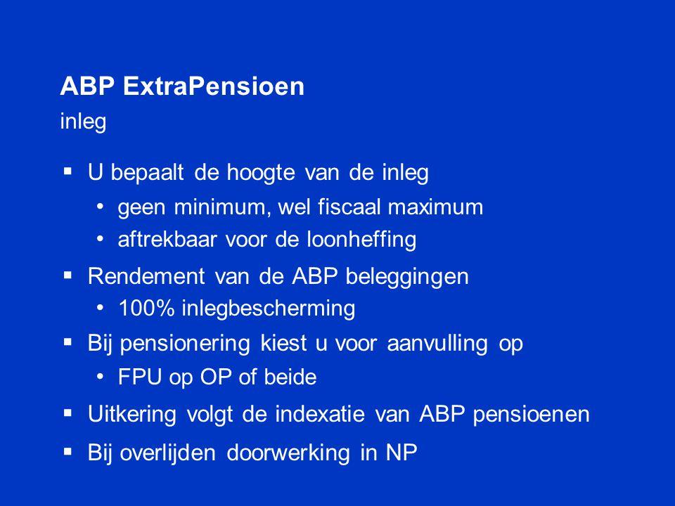 ABP ExtraPensioen inleg