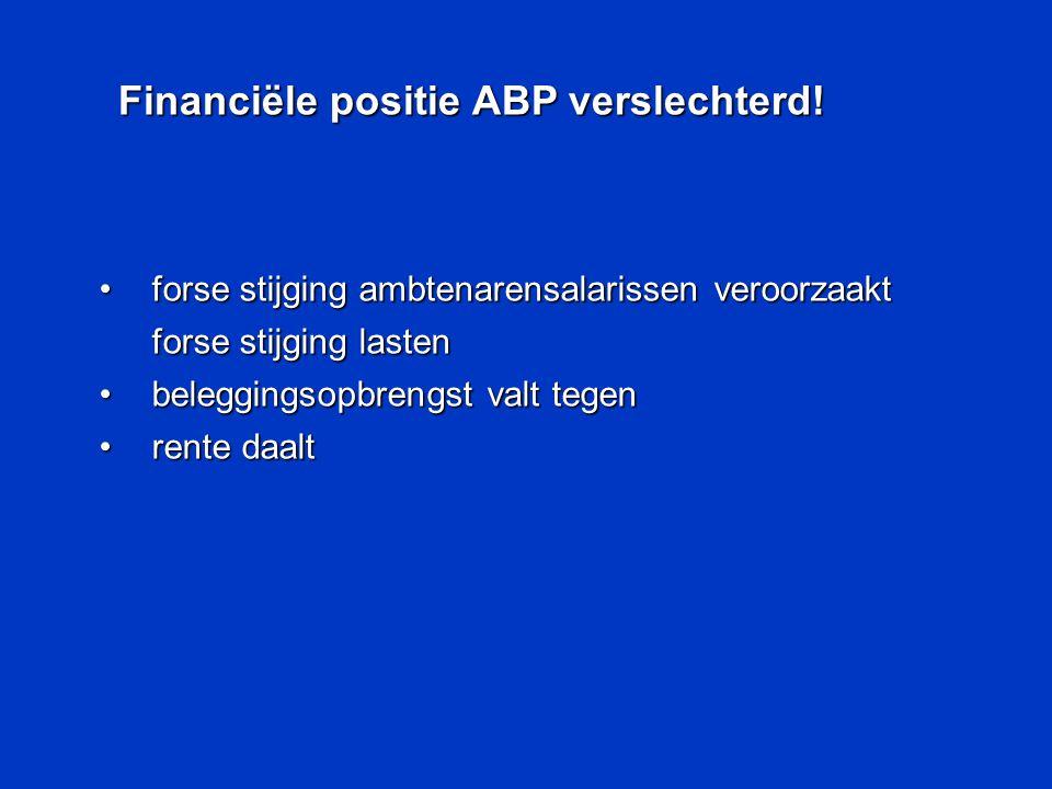 Financiële positie ABP verslechterd!