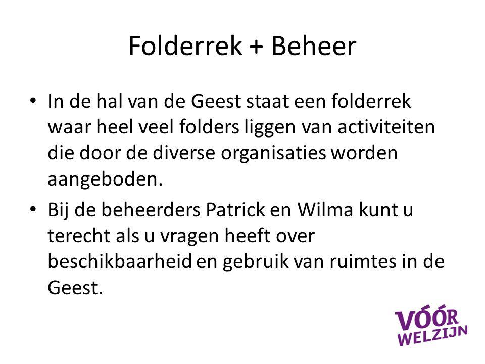 Folderrek + Beheer