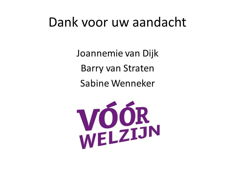 Joannemie van Dijk Barry van Straten Sabine Wenneker