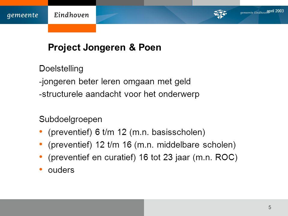 Project Jongeren & Poen