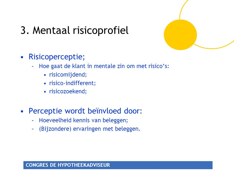3. Mentaal risicoprofiel