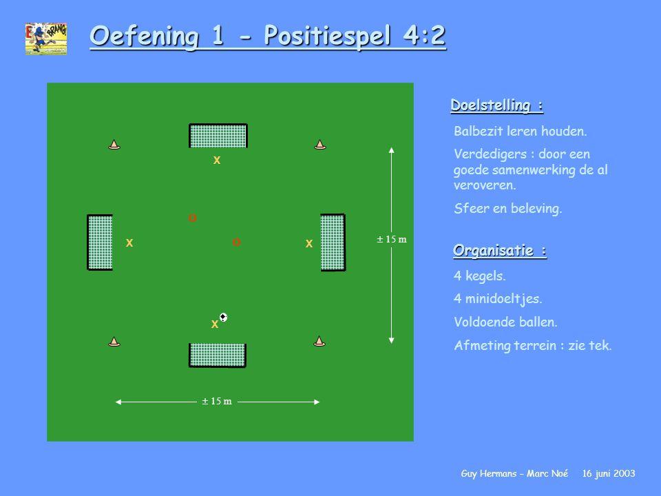 Oefening 1 - Positiespel 4:2