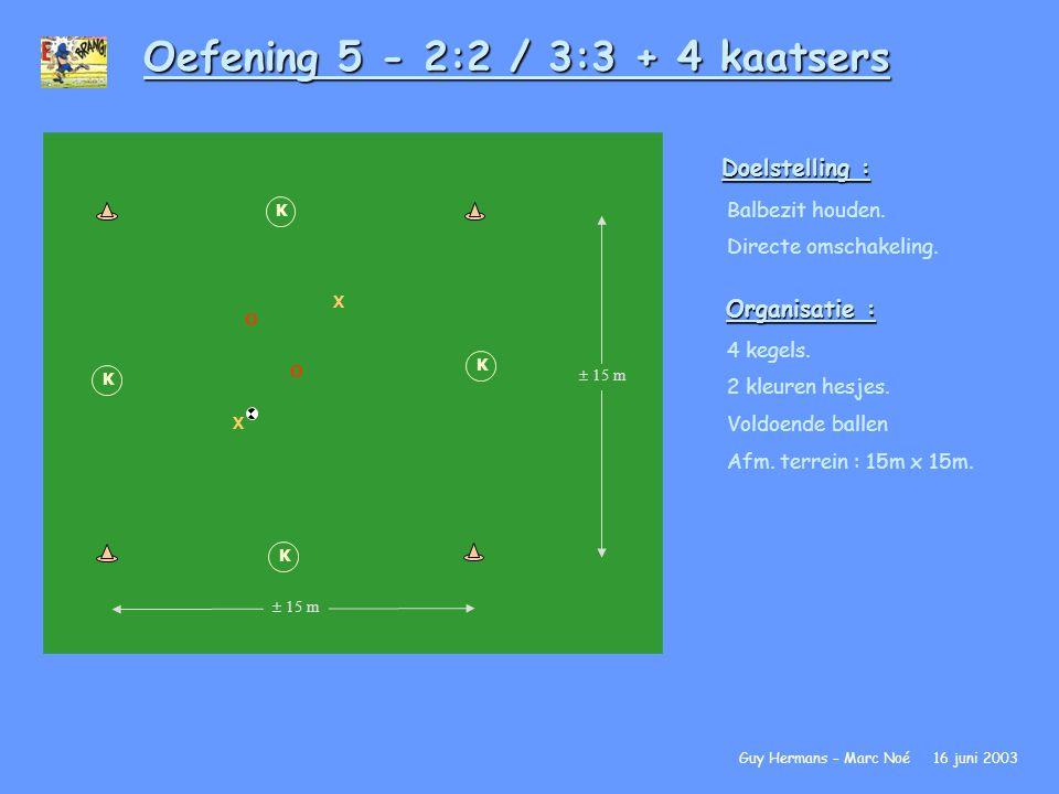 Oefening 5 - 2:2 / 3:3 + 4 kaatsers