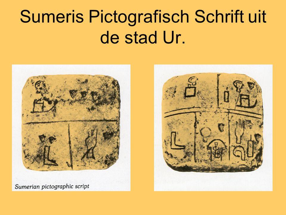 Sumeris Pictografisch Schrift uit de stad Ur.