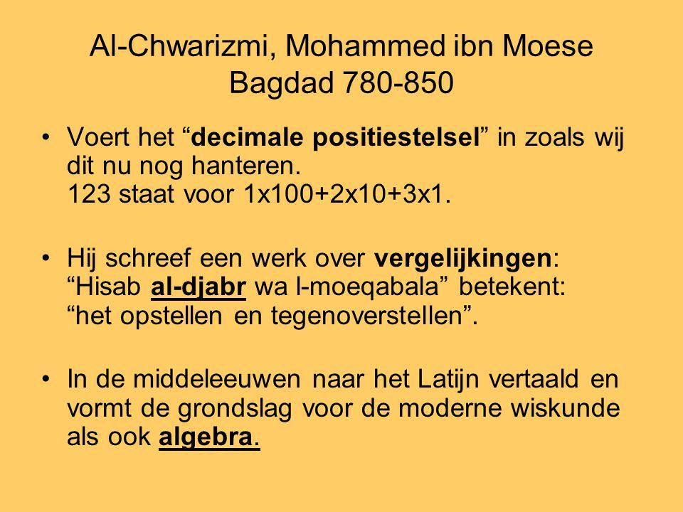 Al-Chwarizmi, Mohammed ibn Moese Bagdad 780-850