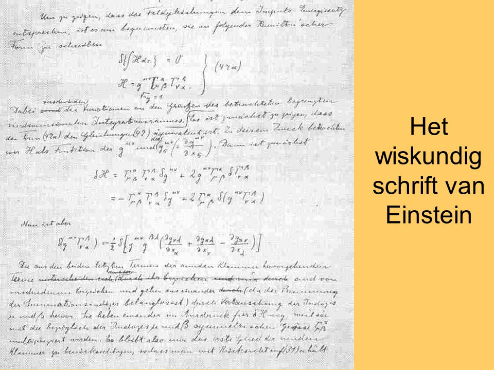 Het wiskundig schrift van Einstein