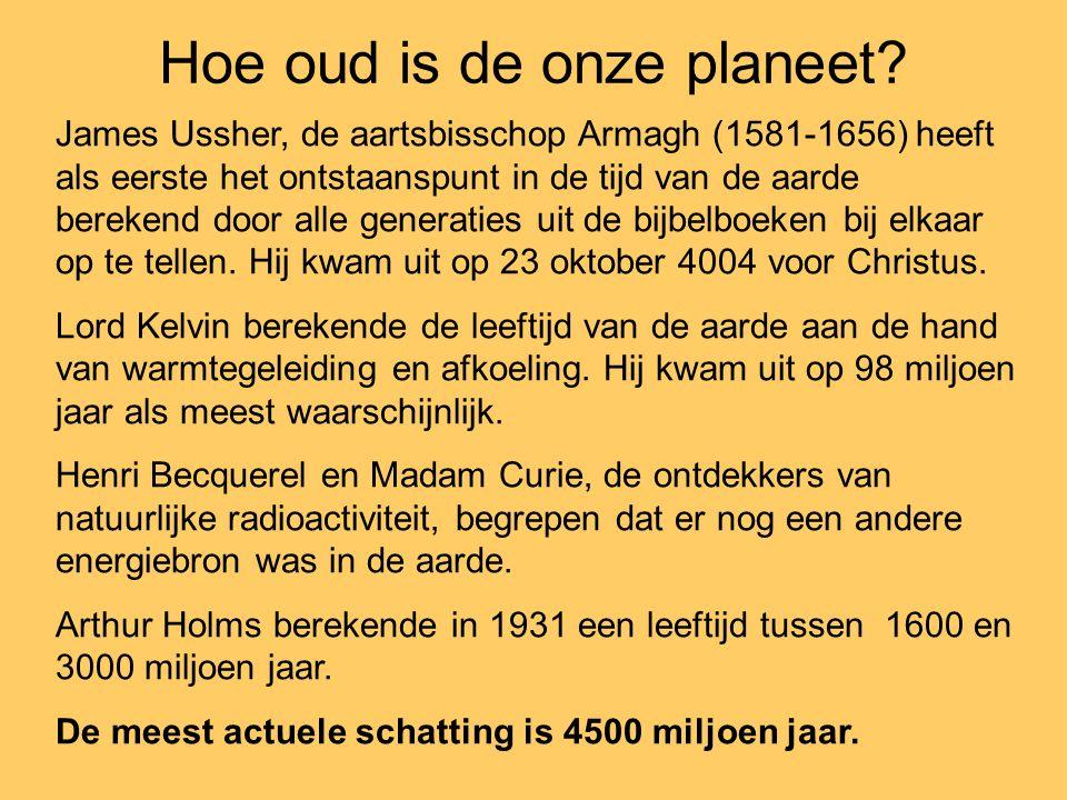 Hoe oud is de onze planeet