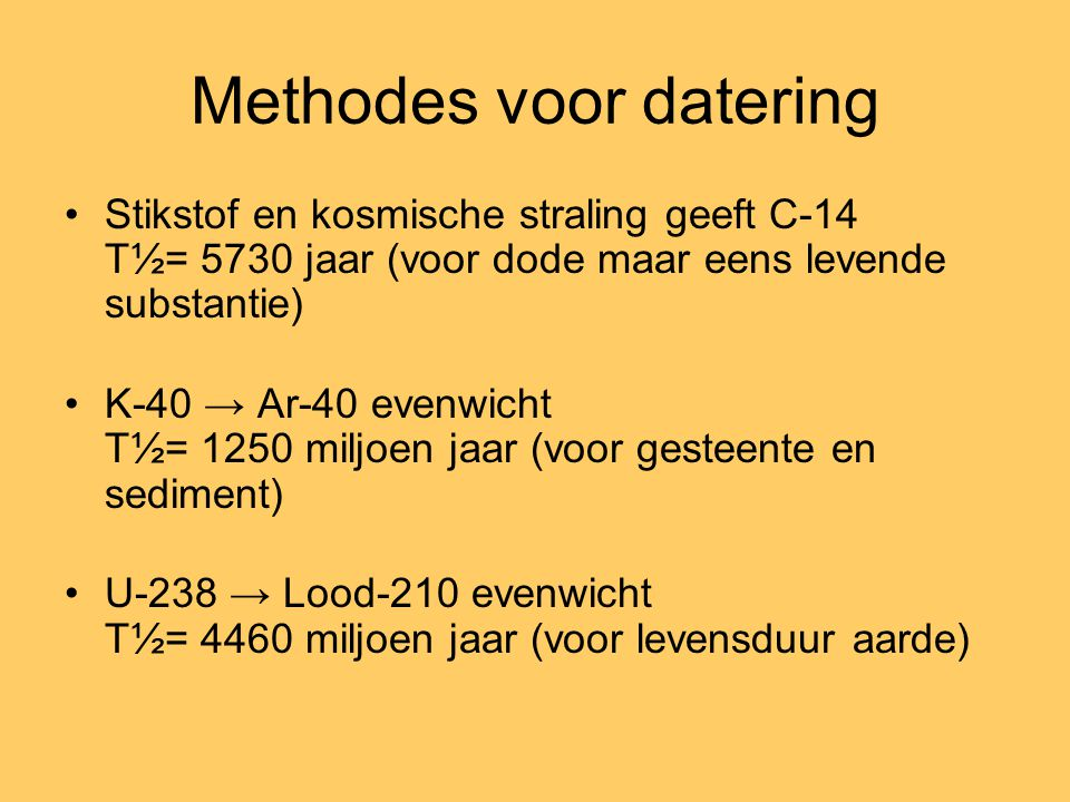 Methodes voor datering
