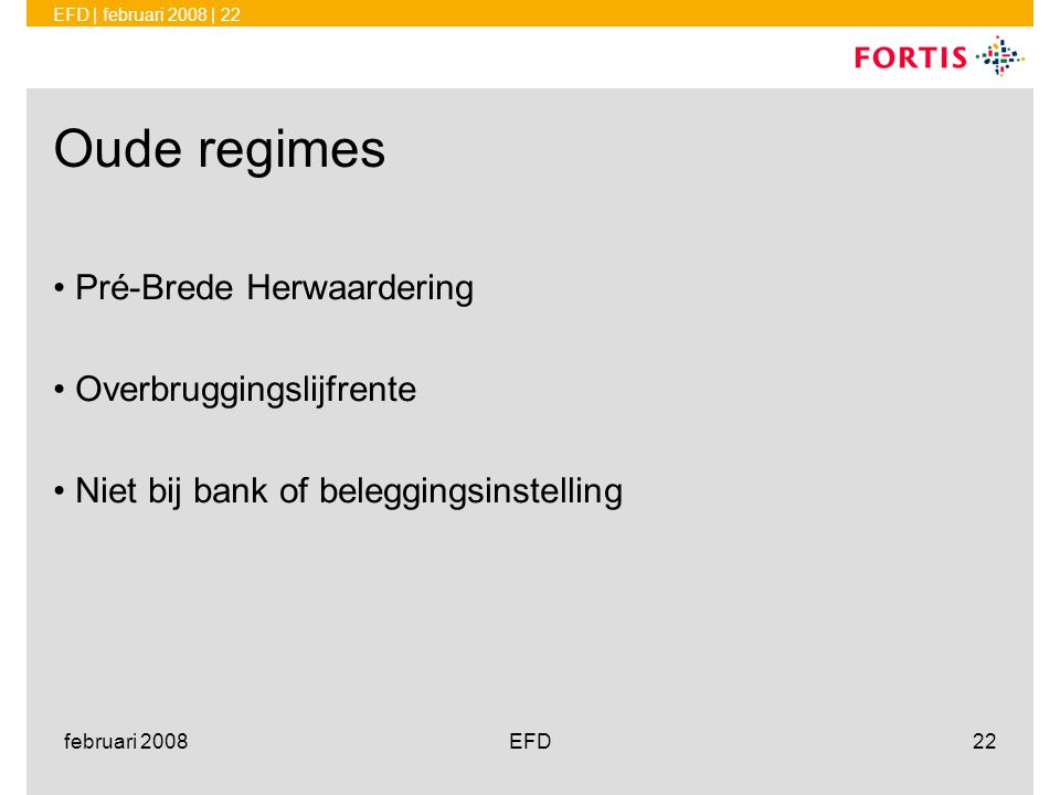 Oude regimes Pré-Brede Herwaardering Overbruggingslijfrente
