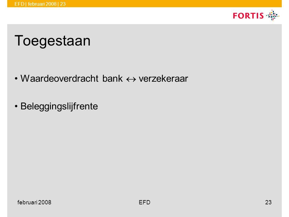 Toegestaan Waardeoverdracht bank  verzekeraar Beleggingslijfrente