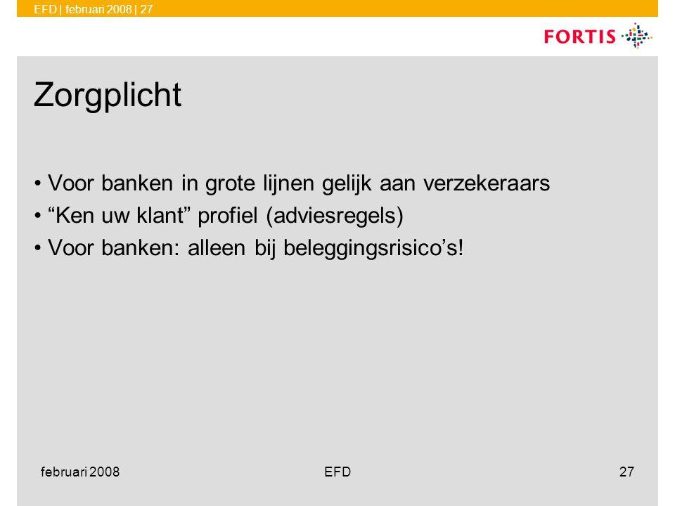 Zorgplicht Voor banken in grote lijnen gelijk aan verzekeraars