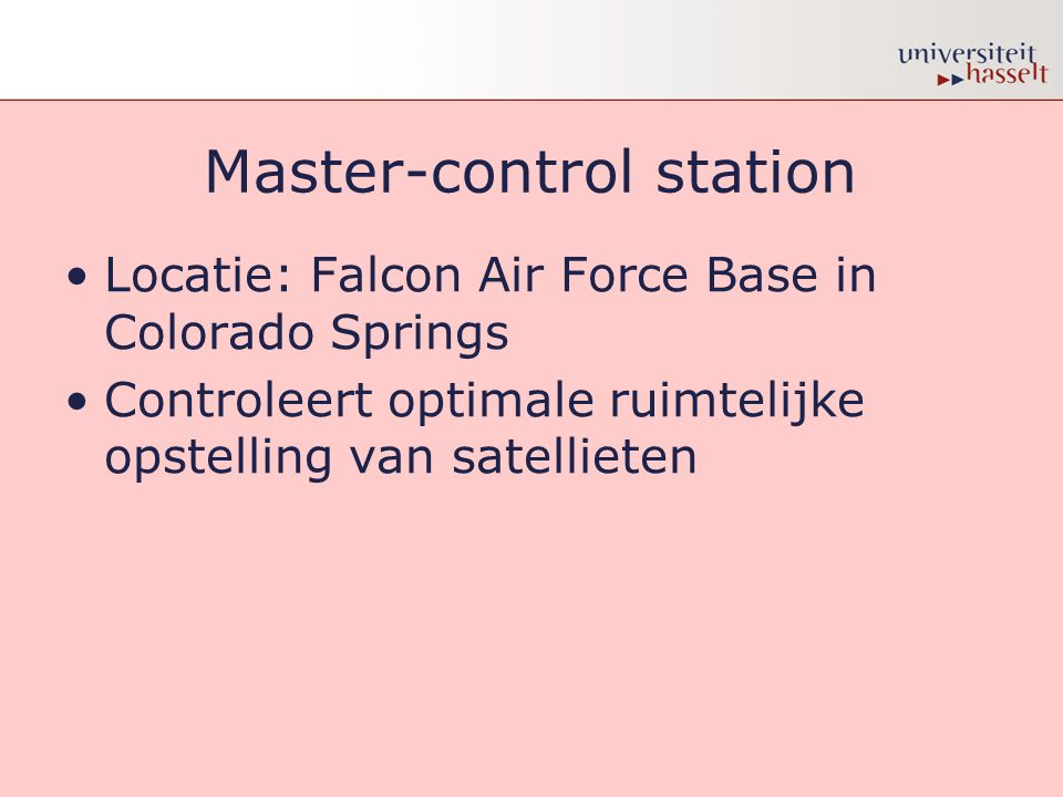 Master-control station
