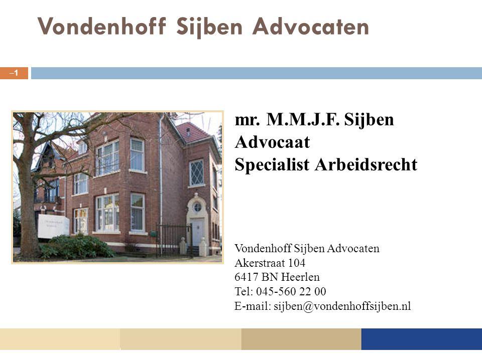 Vondenhoff Sijben Advocaten