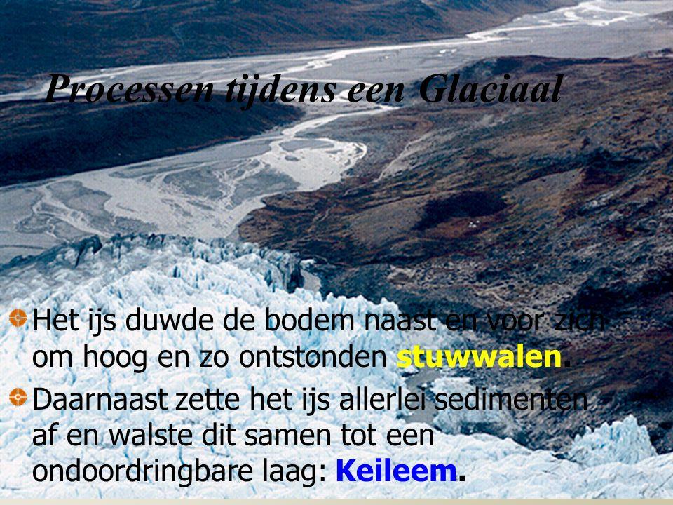 Processen tijdens een Glaciaal