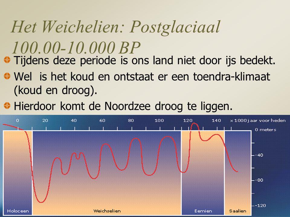 Het Weichelien: Postglaciaal 100.00-10.000 BP