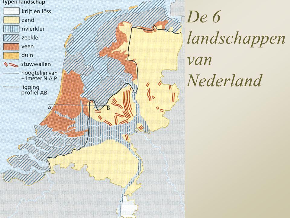 De 6 landschappen van Nederland