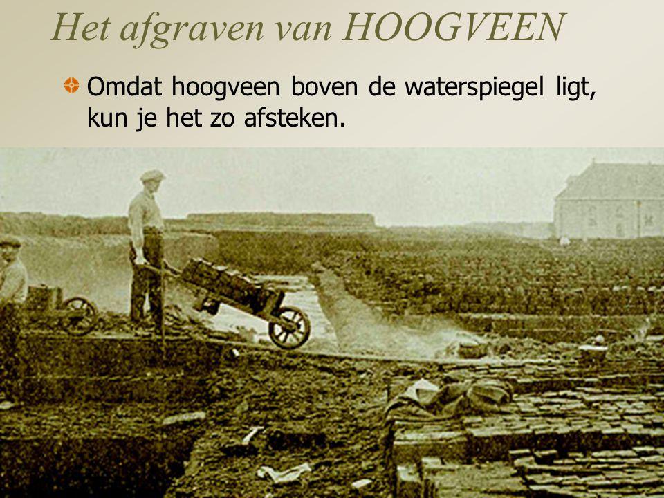 Het afgraven van HOOGVEEN