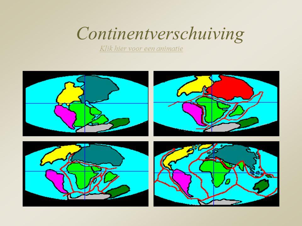 Continentverschuiving Klik hier voor een animatie