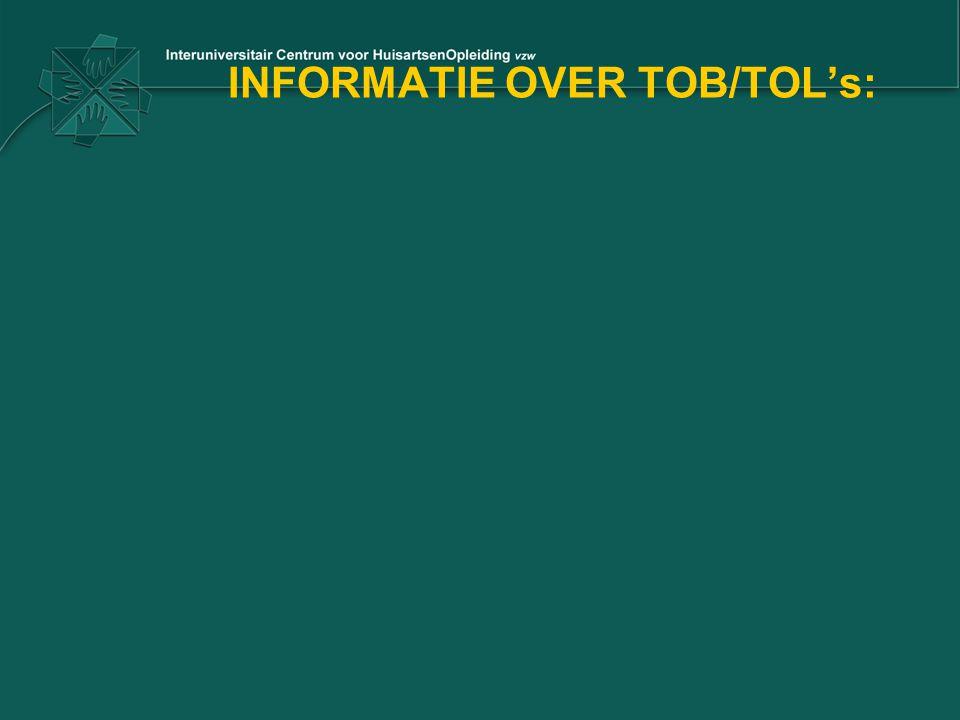 INFORMATIE OVER TOB/TOL's: