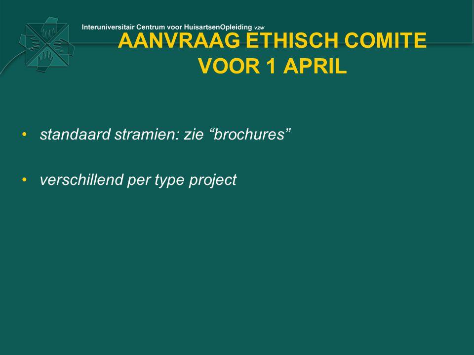 AANVRAAG ETHISCH COMITE VOOR 1 APRIL