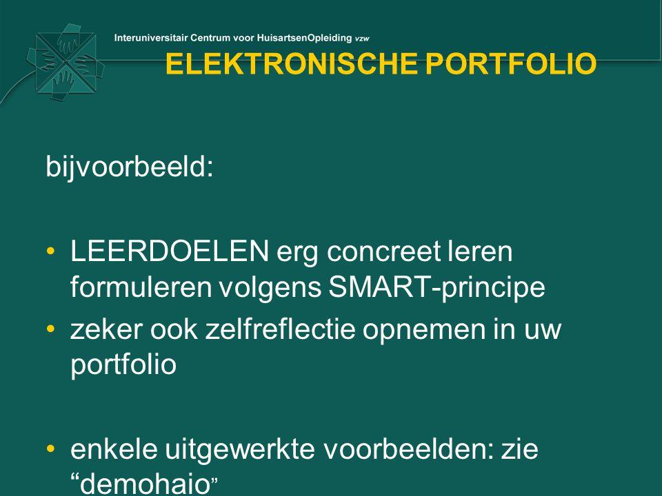ELEKTRONISCHE PORTFOLIO