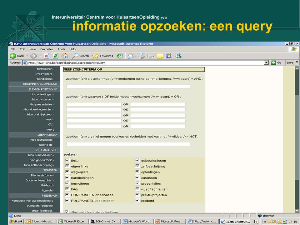 informatie opzoeken: een query