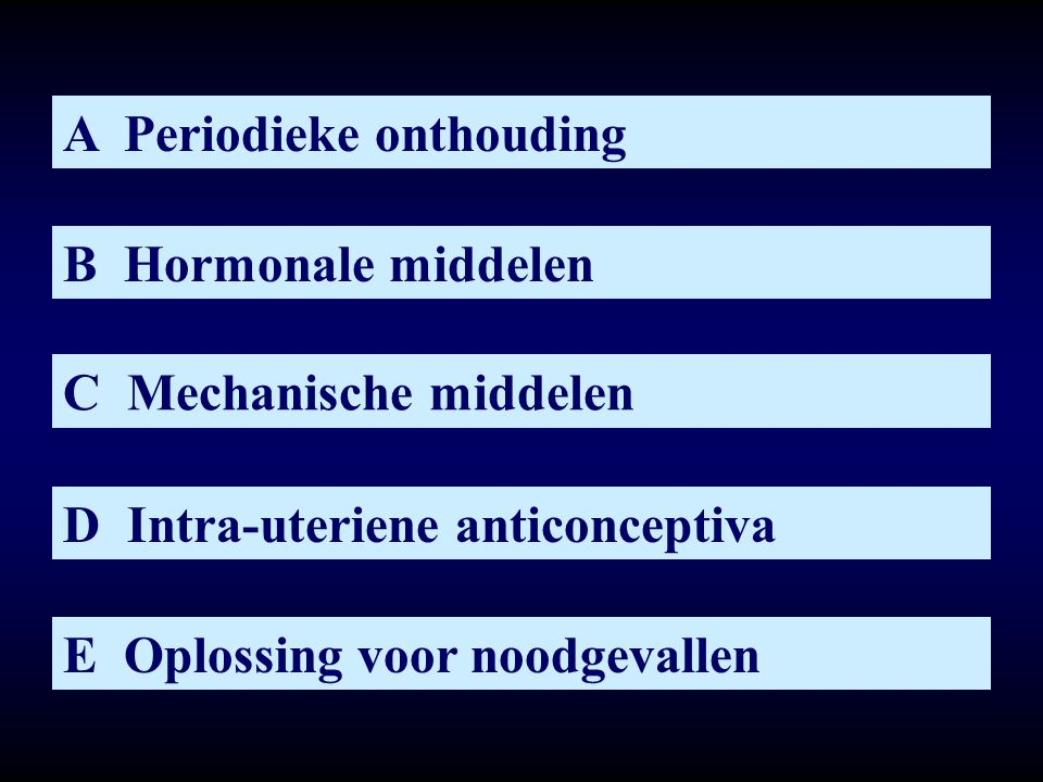 A Periodieke onthouding