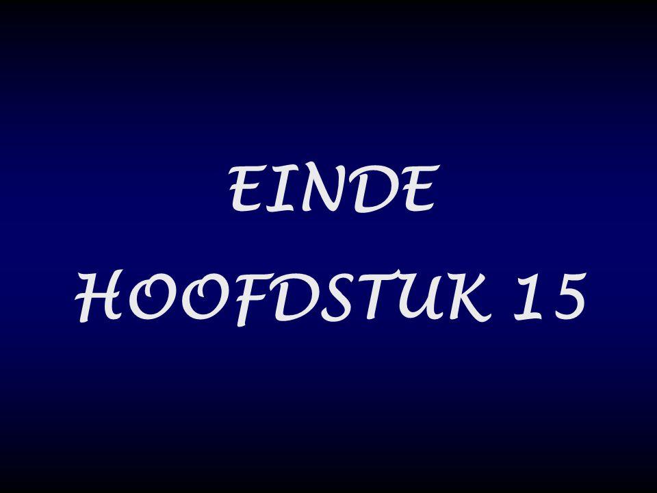 EINDE HOOFDSTUK 15