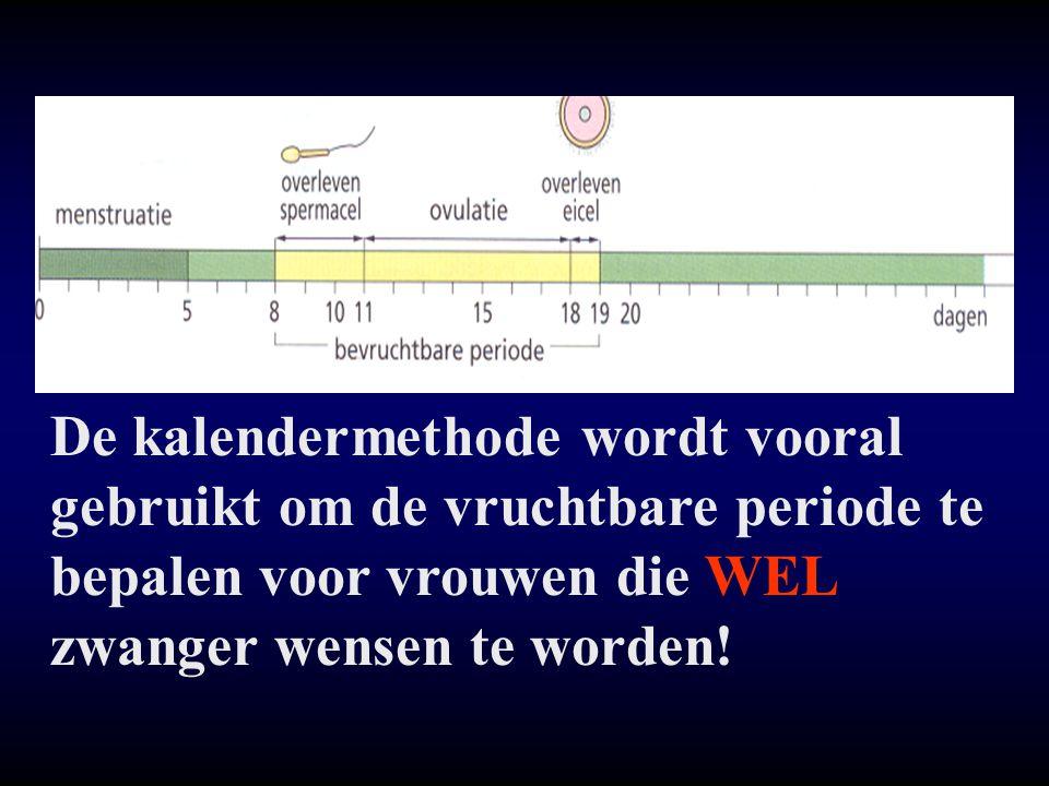 De kalendermethode wordt vooral gebruikt om de vruchtbare periode te bepalen voor vrouwen die WEL zwanger wensen te worden!