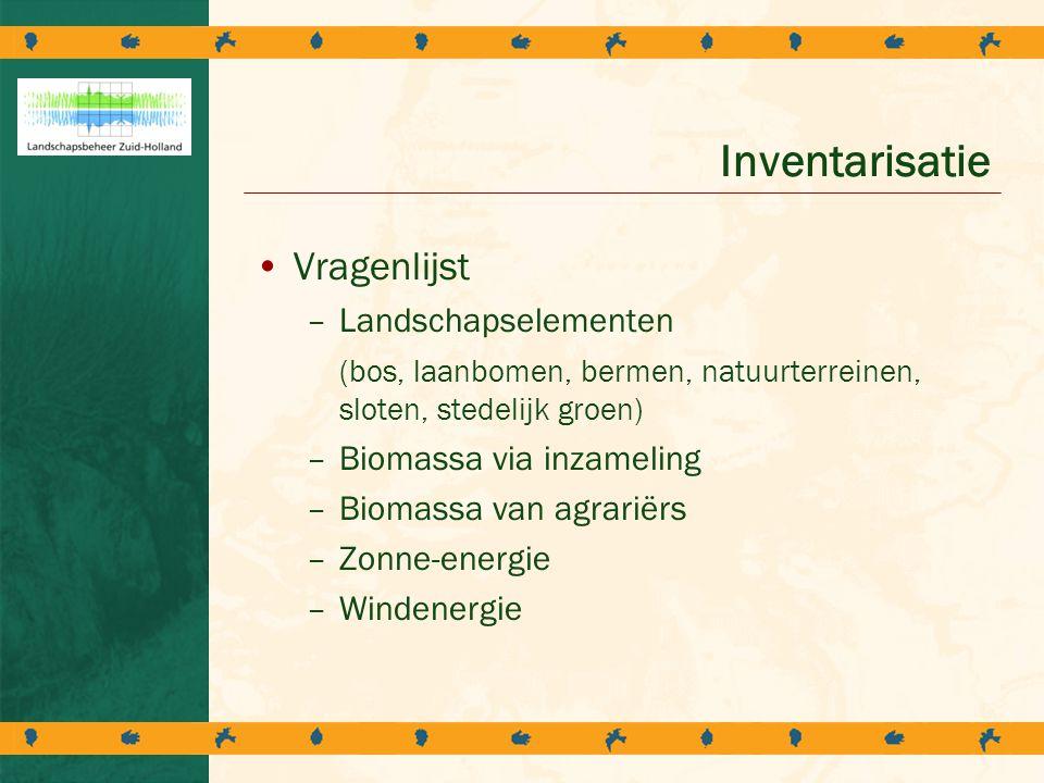 Inventarisatie Vragenlijst Landschapselementen
