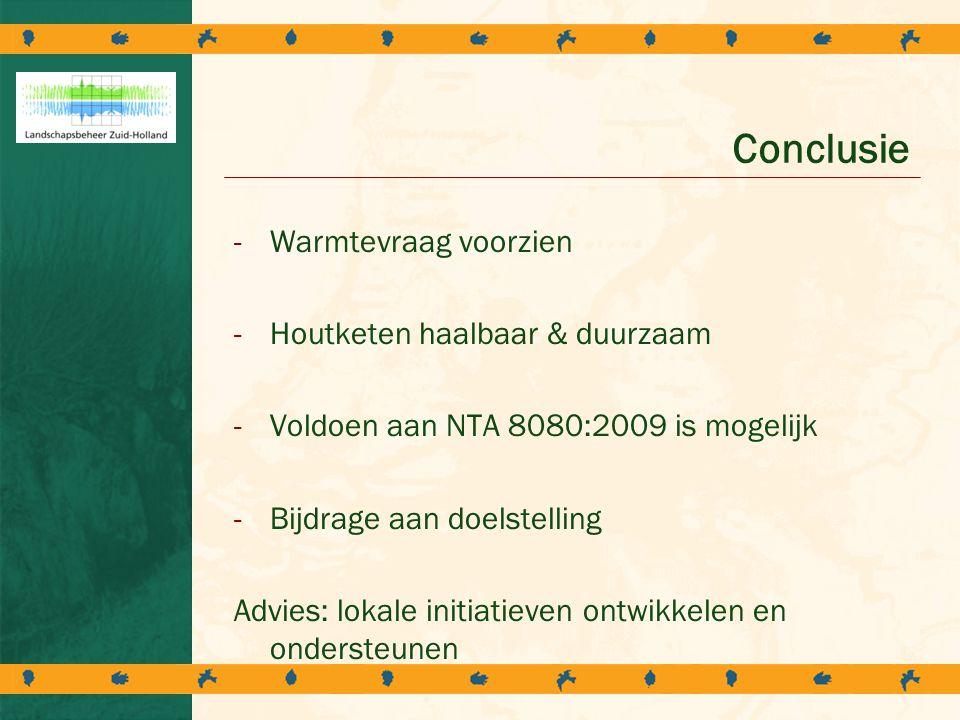 Conclusie Warmtevraag voorzien Houtketen haalbaar & duurzaam