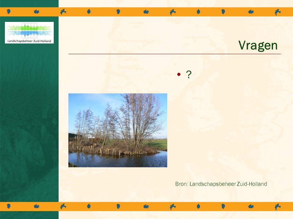 Vragen Bron: Landschapsbeheer Zuid-Holland