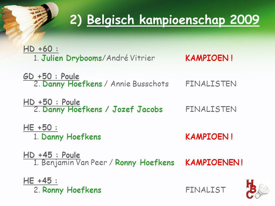 2) Belgisch kampioenschap 2009