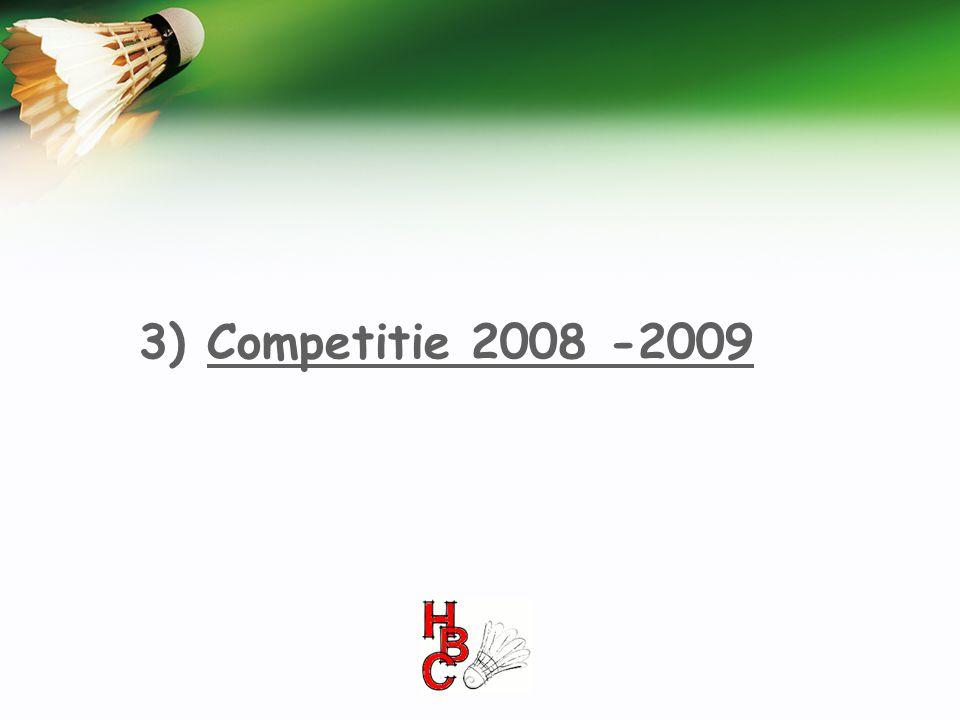 3) Competitie 2008 -2009