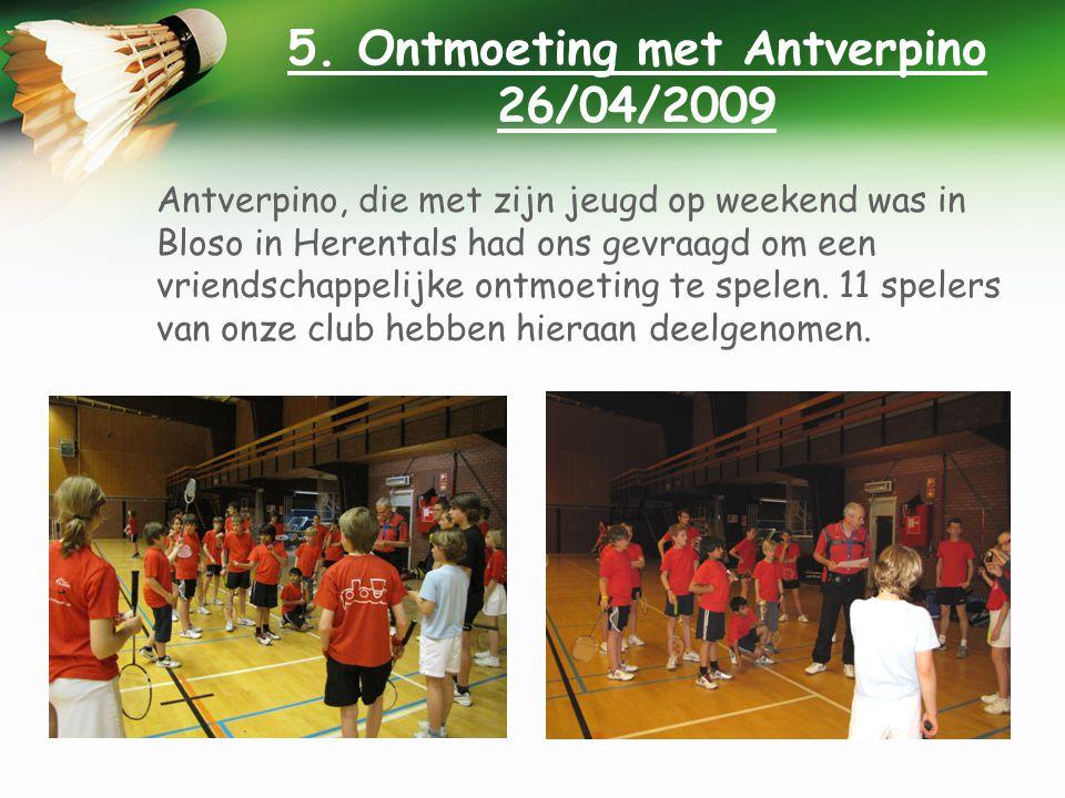 5. Ontmoeting met Antverpino 26/04/2009