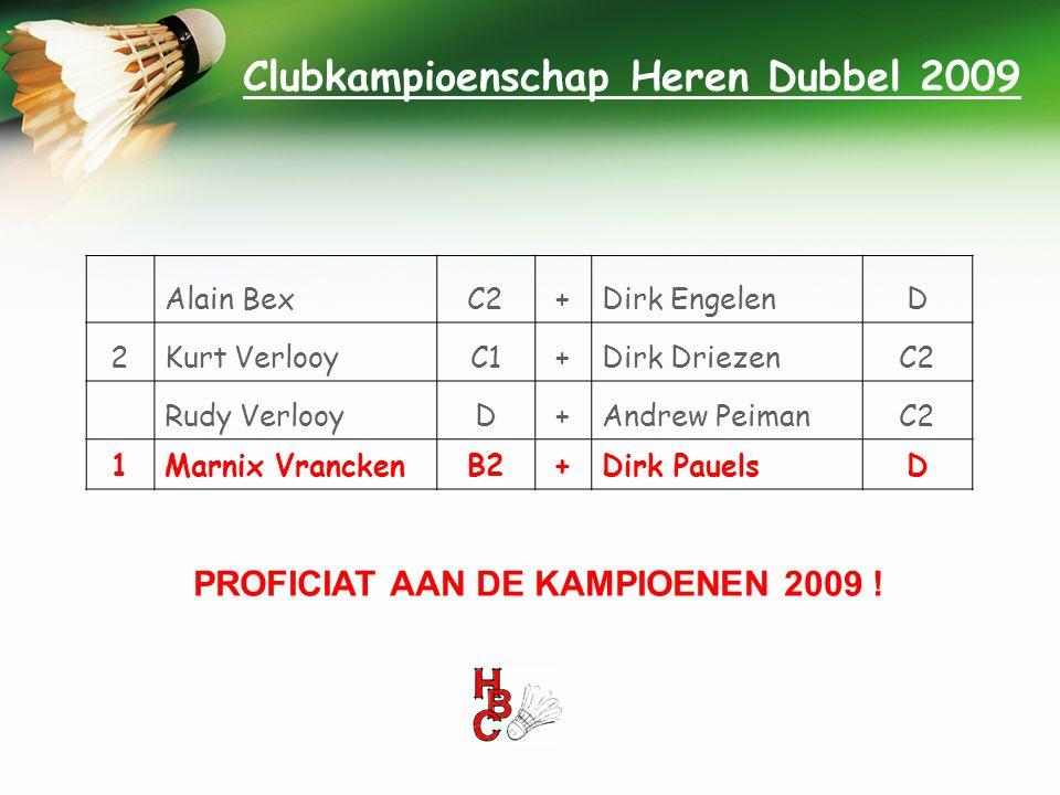 Clubkampioenschap Heren Dubbel 2009