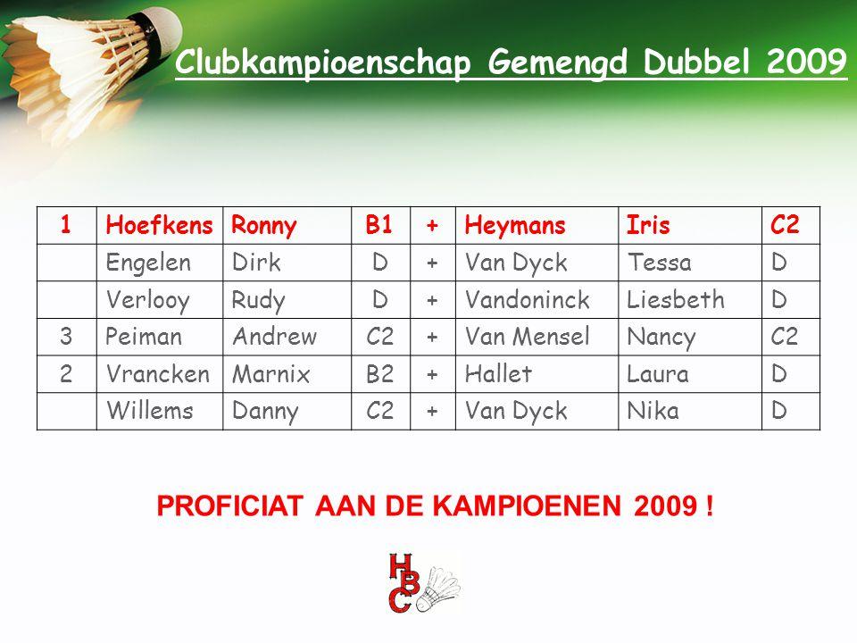 Clubkampioenschap Gemengd Dubbel 2009