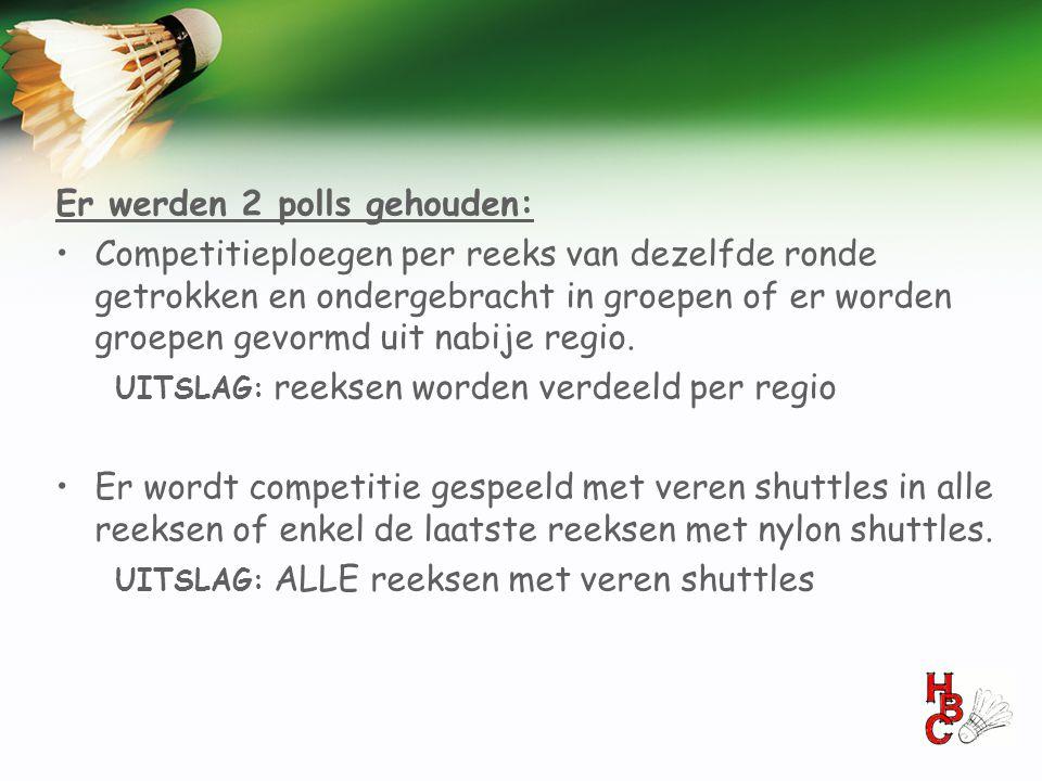 Er werden 2 polls gehouden: