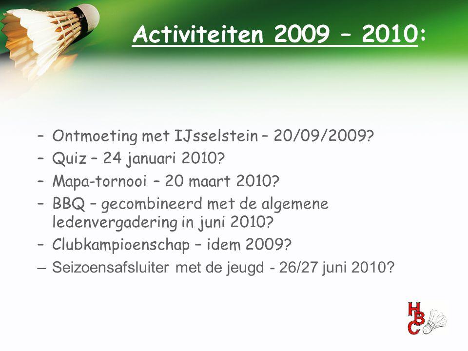 Activiteiten 2009 – 2010: Ontmoeting met IJsselstein – 20/09/2009