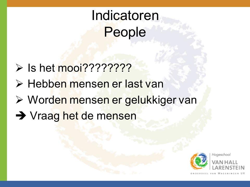 Indicatoren People Is het mooi Hebben mensen er last van