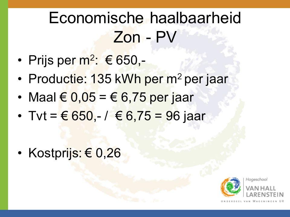 Economische haalbaarheid Zon - PV