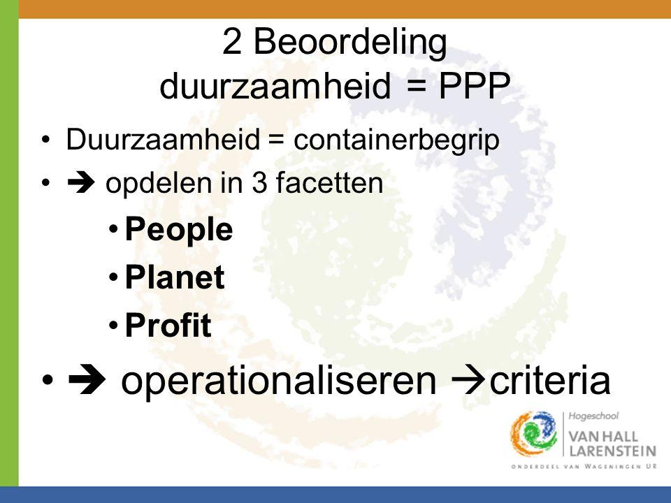 2 Beoordeling duurzaamheid = PPP