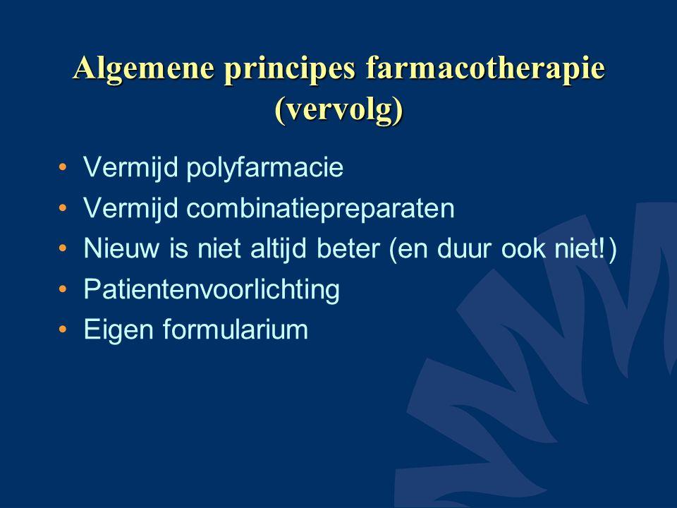 Algemene principes farmacotherapie (vervolg)