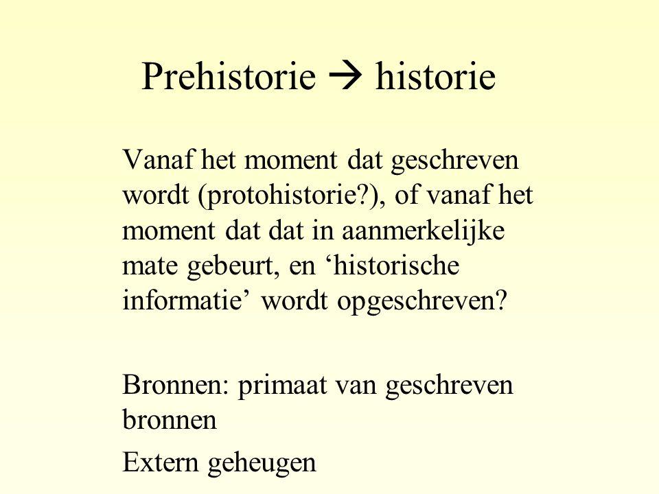 Prehistorie  historie